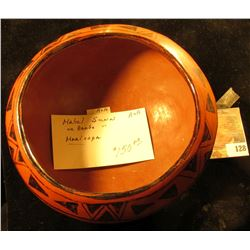"6 1/2"" Indian Pottery Bowl, which 'Doc' has labeled ""Mabel Sunn or Barb "" Maricopa"". He valued this"