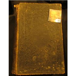 "Leather Bound Civil War Book, part of leather binding has disappeared. Binding slightly loose. ""Pict"