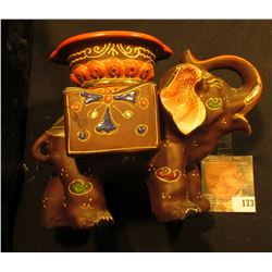"""Hand painted Japan"" Smoking Elephant Ash Tray, which holds two packs of Cigarettes. Excellent condi"