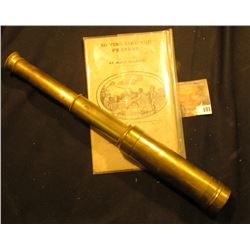 "Old Brass Sailor's Telescope, still functioning condition, extends from 6"" to 16 1/2""; & circa 1830-"