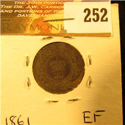 Nova Scotia 1861 1/2 Cent. EF.