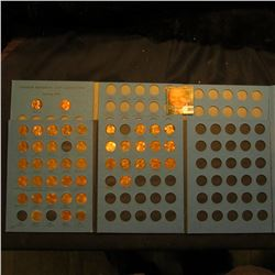 1975-1995 Partial Set of Lincoln Cents in a blue Whitman folder; & a Blue Whitman folder with a coup