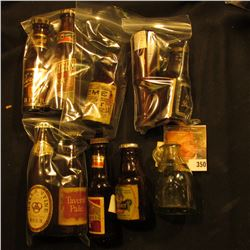 Collection of (10) Different miniature Whiskey, Beer, or Liquor Bottles.