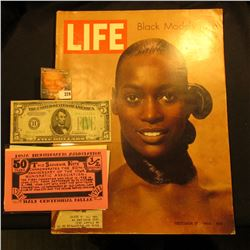 Oct. 17, 1969  LIFE  Magazine (article Stop Fashion Model Naomi Sims); Series 1934B $5 Federal Reser