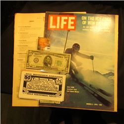 "March 6, 1970 ""LIFE"" Magazine (article Billy Kidd America's First Gold Medal Winner); Series 1934B $"