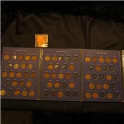 1941-66 Partial Lincoln Cent Set in a blue Whitman folder. (46 pcs.).