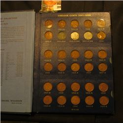 1941-74 Partial Set of Lincoln Cents in a blue Whitman Album. Several high grades.