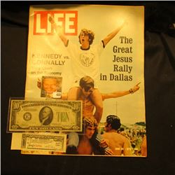 "June 30, 1972 ""LIFE"" with articles ""The Great Jesus Rally in Dallas"" & ""Kennedy vs. Connally...""; Se"