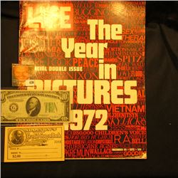 "December 29, 1972 ""LIFE"" with article ""The Year in Pictures 1972""; Series 1934B Ten Dollar Federal R"