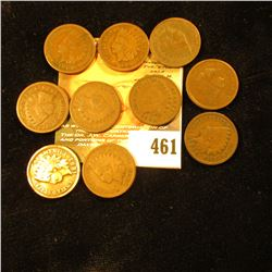 1890, 1891, 1892, 1893, 1895, 1896, 1897, 1898, 1899 & 1900 Indian Head Cents. G.