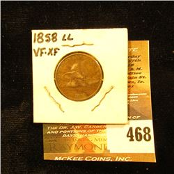 1858 LL Flying Eagle Cent. VF-EF.