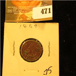 1859 Indian Head Cent. VG Rough Surfaces.