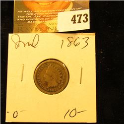 1863 Indian Head Cent. G.