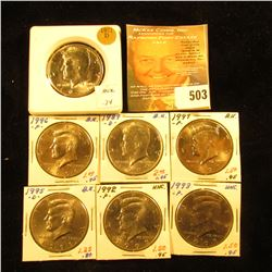 1971 D, 89 D, 92 P, 93 P, 95 D, 96 P, & 97 P Gem BU Kennedy Half Dollars, some are probably from Min