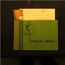 "1948 D to 74 Partial Set of Lincoln Cents in a green ""Popular Album""."