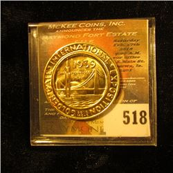 Token From The Golden Gate International Exposition Dated 1939 San Francisco, California