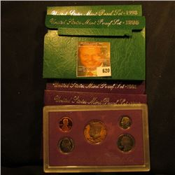 1990, 1991, 1995, And 1998 Proof Sets