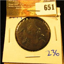 1794 Condor Token From England.  This Coin Was Privately Minted Due To A Shortage Of Small Change Fo