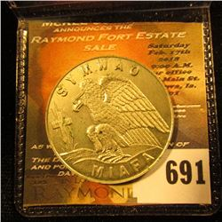 "KKK Token.  This Is The Real Deal.  It Is Not A Reproduction.  It Has ""Symwao Miafa"" On The Front Wi"