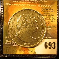1817 Crown From Great Britain.  This Coin Has Some Nice Details.  It Has Full Rims With Cartwhels Pr