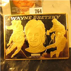 Three And A Half Ounce Silver Art Bar With Wayne Gretzky