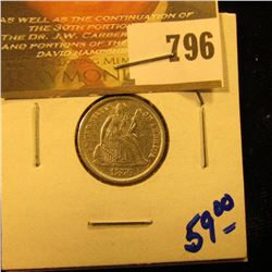 1876 Seated Dime With All The Letters In Liberty Visible, Full Rim With Catwheels Visible
