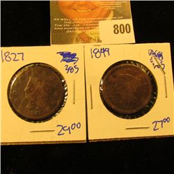 1827 And 1849 Large Cents