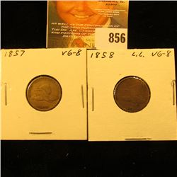 1857 & 1858 Large Letters U.S. Flying Eagle Cents.