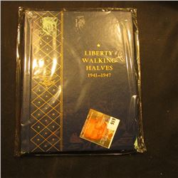 "Blue Whitman Coin Album ""Liberty Walking Halves 1941-1947"", used, but excellent condition."