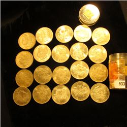 1885 New Orleans Mint Original BU Roll of Morgan Silver Dollars in a plastic tube. (20 pieces.
