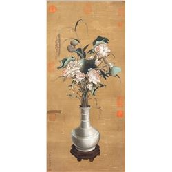 Lang Shining 1688-1766 Chinese Watercolour Lotus