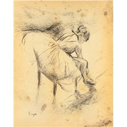 Edgar Degas Charcoal on Paper 1834-1917 Dancer