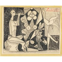 Pablo Picasso 1881-1973 Cubist Mythological Scene
