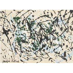 Jackson Pollock 1912-1956 Ink on Paper Abstract
