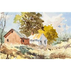 Edward Garbely 1908-1999 Watercolor on Paper