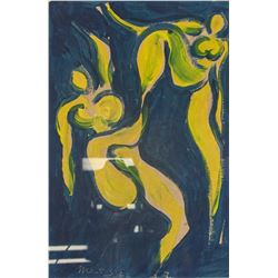 Henri Matisse (French 1869-1954) Oil on Board