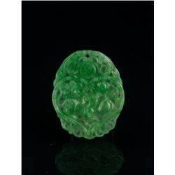 Chinese Hetian Jade Carved Plaque Pendant