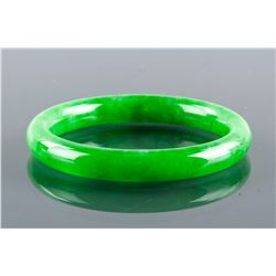 Burma Emerald Green Jadeite Carved Bangle