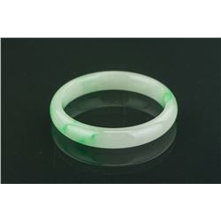 Chinese Grade A Green Jadeite Bangle COA