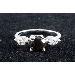 14k 1.35ct & 0.55ct Black Diamond Ring CRV $3608