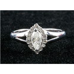 14k Gold 0.34ct & 0.14ct Diamond Ring CRV $6000