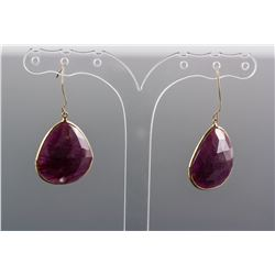 36.10ct Ruby Earrings RV$1200