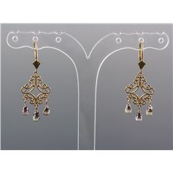 3.70ct Pinkish-Brown Sapphire Earrings CRV$1800