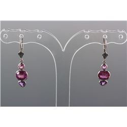 4.20ct Pink-Purple Sapphire Earrings CRV$2650
