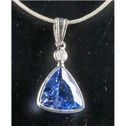 3.6ct Tanzanite & 0.05ct Diamond Pendant CRV $1188