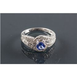 0.55ct Tanzanite & 0.55ct Diamond Ring CRV$1690