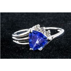 1.27ct Tanzanite & 0.06ct Diamond Ring RV $2300