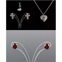 Set of 6 PC Sterling Silver and 10k Gold Jewellery