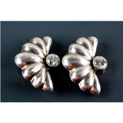 2 Silver Brooches Butterfly