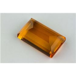 92.50ct Yellow Emerald Cut Brazilian Citrine